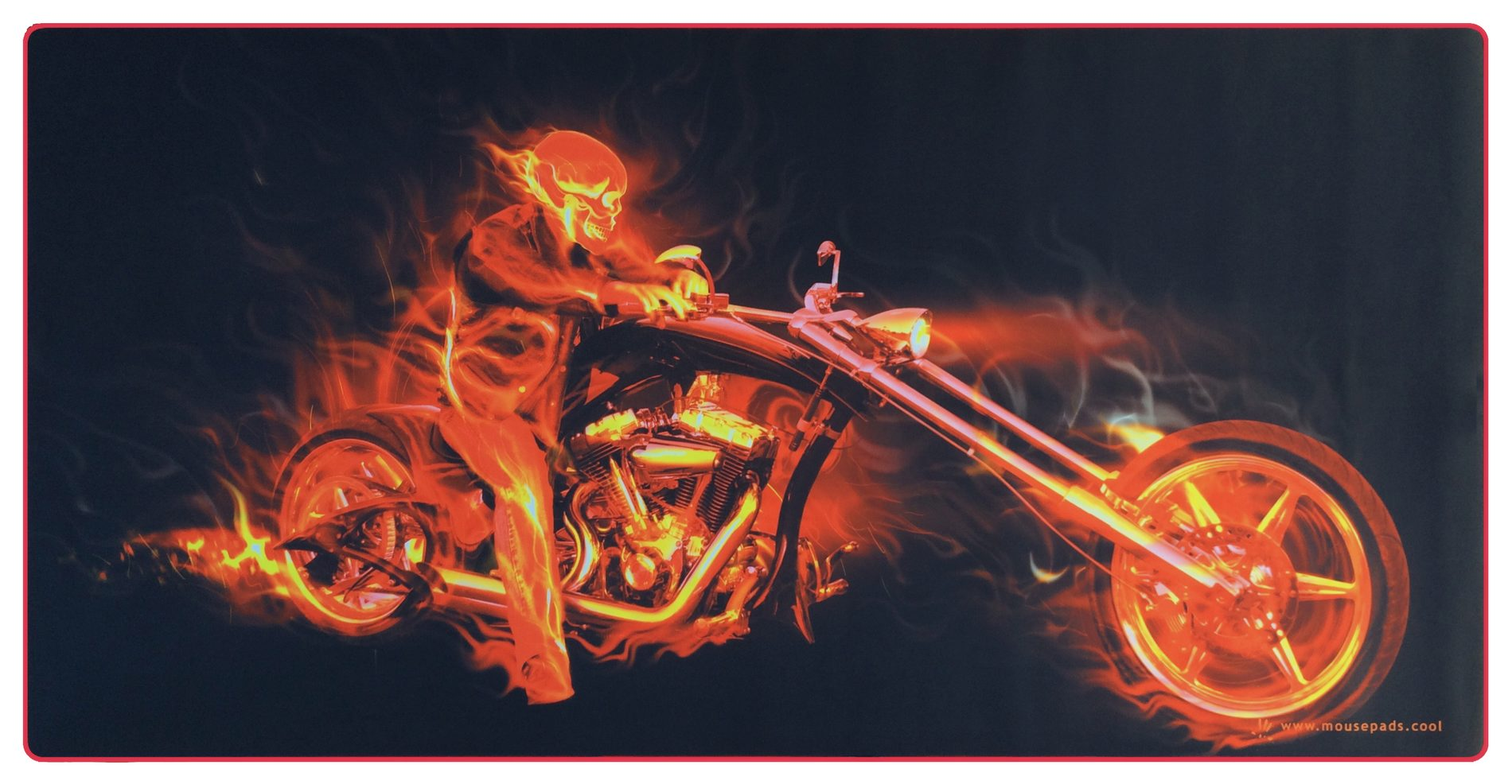 Fire Biker Giant Mouse Pad