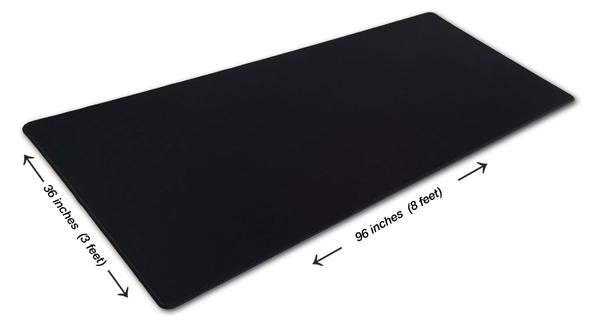 8 Foot Black Giant Mouse Pad